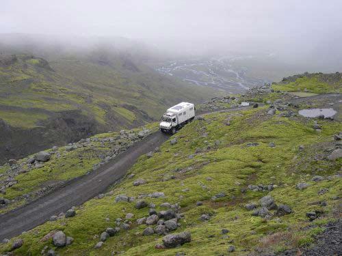 Route  Islande Denivele